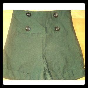 02e3b8bbed Women's High Waisted Green Shorts on Poshmark